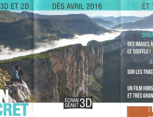 Verdon Secret film in 3D Ecociné Verdon
